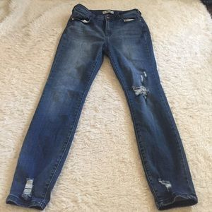 High rise Refuge distressed jeans